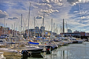 Zakim Bridge Photos - The Zakim The Garden and The Marina by Joann Vitali