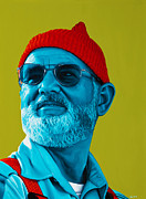 Ellen Patton Framed Prints - The Zissou- background edit Framed Print by Ellen Patton