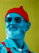 Fan Art Painting Originals - The Zissou by Ellen Patton