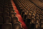 Empty Chairs Prints - Theater Seats Print by Margie Hurwich