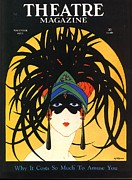 Nineteen-twenties Posters - Theatre 1920s Usa Masks Magazines Art Poster by The Advertising Archives