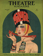 Magazine Cover Drawings Prints - Theatre 1923 1920s Usa Magazines Art Print by The Advertising Archives