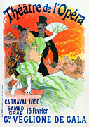 Affiche Mixed Media - Theatre de Opera 1896 Carnival by Charles Ross