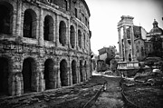 Digital Art Photos Prints - Theatre of Marcellus Print by Melany Sarafis