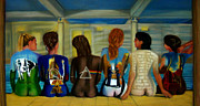 Musicians Pastels - Their Back by D Rogale
