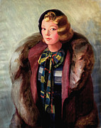 Plaid Scarf Posters - Thelma in Fur Poster by Art By Tolpo Collection