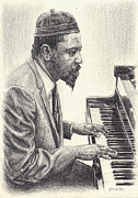 Monks Drawings - Thelonious Monk II by Michael Morgan