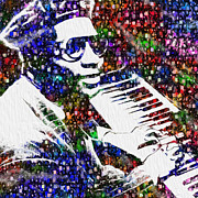 Dramatic Digital Art - Thelonious Monk by Jack Zulli