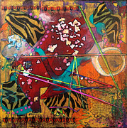 Multimedia Mixed Media Prints - Therapeutic Kaos Print by Melanie Hamm
