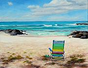Beach Chair Prints - Therapy Print by Mary Giacomini
