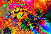 Fractal Geometry Digital Art Prints - There Are Places I Remember 20130510 Print by Wingsdomain Art and Photography