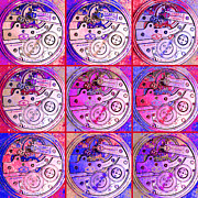 Symmetrical Digital Art Prints - There Is Never Enough Time 20130606magenta Print by Wingsdomain Art and Photography