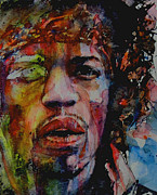 Jimi Hendrix Prints - There Must Be Some Kind Of Way Out Of Here Print by Paul Lovering