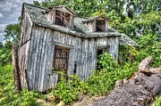 Old Cabins Digital Art - There Was A Crooked Man by Dan Stone