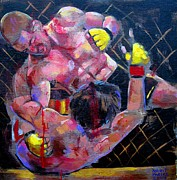 Ufc Paintings - There Will Be Blood by Robert Phelps