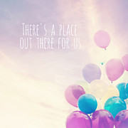 Whimsical Children Prints - Theres a place out there for us Print by Sylvia Cook