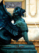 Monument Sculpture Prints - Therianthropic Beast Print by Kathleen English-Barrett
