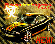 Hemi Digital Art Posters - Thermohemispherical Power Poster by Greg Sharpe