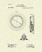 1887 Drawings Prints - Thermometer 1887 Patent Art Print by Prior Art Design