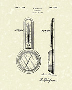Device Drawings Framed Prints - Thermometer 1926 Patent Art Framed Print by Prior Art Design