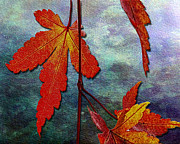Www.paintedworksbykb.com Posters - These Leaves Poster by Karen  Burns