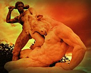 Minotaur Photo Posters - Theseus and the Minotaur Poster by John Malone