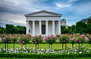 Sky Photos - Theseus Temple in Roses by Viacheslav Savitskiy