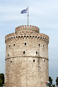Byzantine Photo Originals - Thessaloniki famous landmark white tower by Goce Risteski