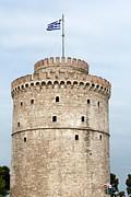 Thessaloniki Famous Landmark White Tower Print by Goce Risteski