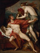 Bringing Framed Prints - Thetis Bringing The Armor to Achilles Framed Print by Benjamin West