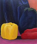 Red Drape Paintings - They Are Just Glorified Veggies by Laura Charlesworth