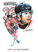 Hockey Mixed Media - They Call Him Versteeg by Jerry Tibstra
