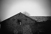 Ghostly Barn Prints - They used to live here  Print by Mohamad Itani