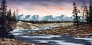 Snowscape Painting Posters - Thin Ice Poster by Rick Bainbridge
