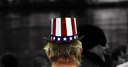 Red White And Blue Digital Art Prints - Things that are hat Print by Steven  Digman