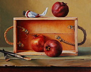 Alizarin Crimson Paintings - Think Outside The Box by Dan Petrov