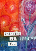 Thinking Of You Art Card Print by Linda Woods