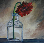Gerbera Paintings - Thinking of You by Julie Brugh Riffey