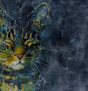 Feline Cat Art Paintings - Thinking Of You by Paul Lovering