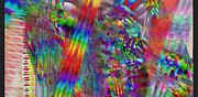 Abstract Digital Reliefs - Thinking Rainbows by Nancy Forever