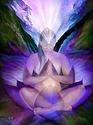 Lotus Art Prints - Third Eye Chakra Goddess Print by Carol Cavalaris