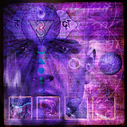 Indigo Chakra Prints - Third Eye Chakra Print by Mark Preston