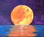 Chatham Painting Originals - Third Eye Moon by Valerie Twomey