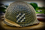 3rd Division Metal Prints - Third Infantry Division Helmet Metal Print by Paul Ward