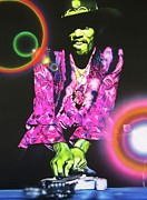 Jimi Hendrix Painting Prints - Third Stone from the Sun Print by Christian Chapman Art