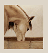 Light Horse Painting Originals - Thirsty by Joyce Blank