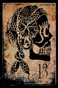Sugar Skull Prints - Thirteemth Gypsy Print by Shayne of the  Dead