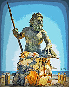 Greek Sculpture Prints - Thirty Seven Foot Neptune Print by Eric Lewis