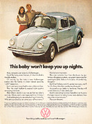 Vintage Car Advert Digital Art - This baby wont keep you up nights by Nomad Art And  Design