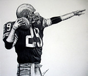 Pro Football Drawings Posters - This Balls for You Poster by Joe Lisowski